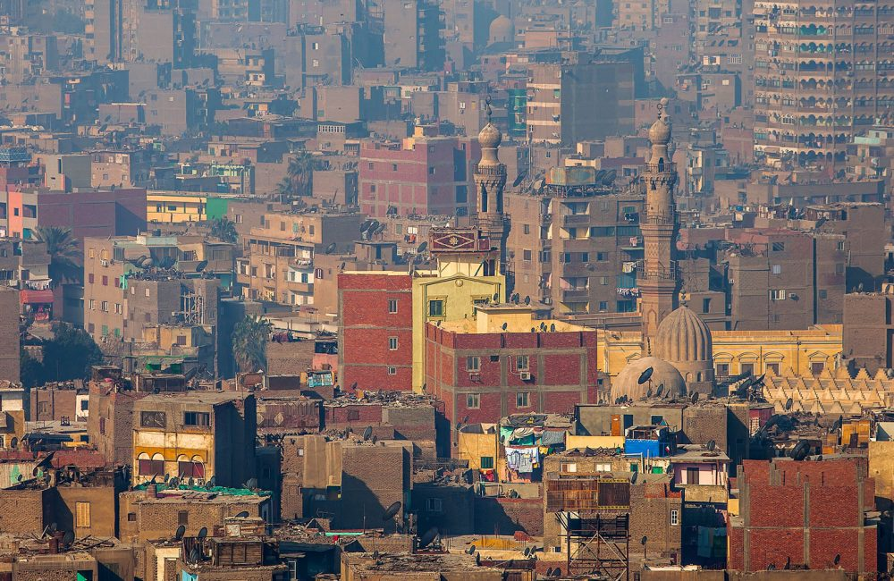 An Egyptian city scape