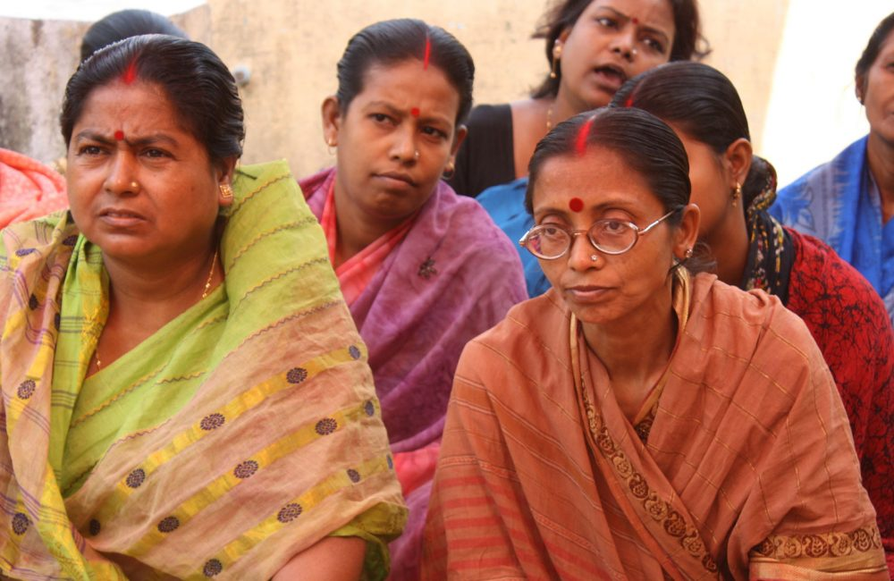 Indian women gathered in a group