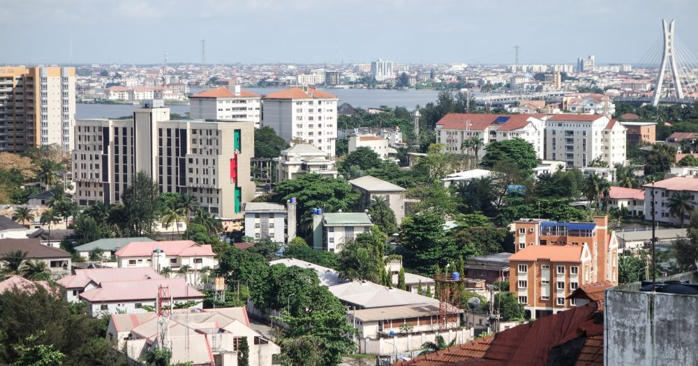 Busy developing city of Lagos