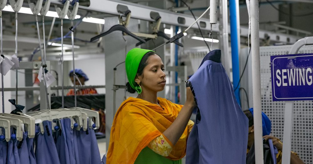 Women working in a dry cleaners